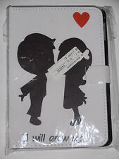 IPad Mini 1 2 3  PU Leather Retro I Will Grow UP Love Heart Case Cover