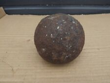 More details for antique 17.6 lb  5 inch dia cannon ball collectors display