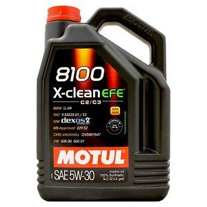 Motul 8100 X-Clean EFE 5w-30 5w30 Fully Synthetic Car Engine Oil - 5 Litres 5L