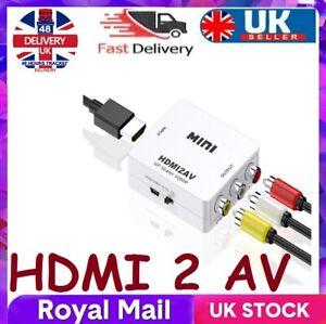HDMI To RCA AV Adapter Converter Cable CVBS 3RCA 1080P Composite Video Audio UK