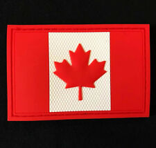 3D PVC CANADA FLAG RUBBER CANADIAN MORALE FULLCOLOR VELCRO® BRAND FASTENER PATCH