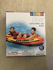 Intex Explorer 200 Inflatable Boat Lake Water Raft 73in x 37in x 16in Orange