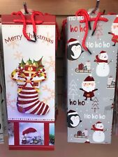 24-PACK Christmas Wine Bottle SIZE Gift Bags Christmas Holiday WHOLESALE