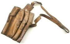 VINTAGE SERBIAN ARMY LEATHER AMMO MAGAZINE POUCH / SHOULDER BAG (NO3)