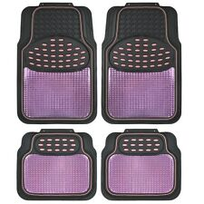 BDK Metallic Rubber Floor Mats for Car SUV & Truck - Ultra Heavy Duty Pink