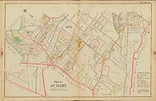 1906 SUMMIT UNION NEW JERSEY ST TERESA CEMETERY PASSAIC RIVER-GLENSIDE ATLAS MAP