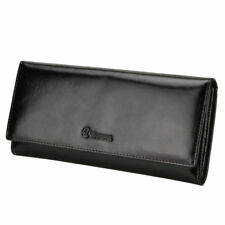 Men's Leather Long Clutch Wallet Credit Card Cash Holder Clutch Handbag Purse