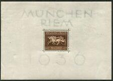 GERMANY - 1936 BROWN RIBBON Mini Sheet MH SG618 Cv £20 [B4049]