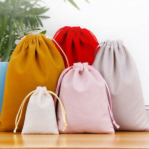 Drawstring Pouch Bag Velvet Wedding Party Favor Gift Bags Portable Jewelry Pouch
