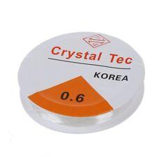 10 Metres Fil / Corde Elastique pour Enfiler des Perles - Transparent U7J3