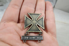 WWII US army Marksman Pistol D Badge Pin Back