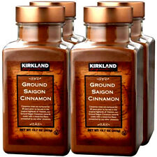 4X Kirkland Signature Ground Saigon Cinnamon Powder - 10.7 Oz Bottles 4 Pack
