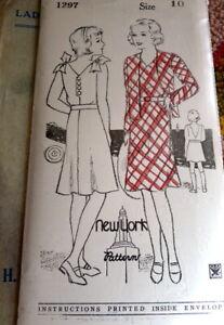 LOVELY VTG 1930s GIRLS DRESS & JACKET NEW YORK Sewing Pattern 10 FF