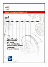 Bentley Audi TT 2000 2001 2002 2003 2004 2005 2006 Repair Manual DVD (ATT6) New