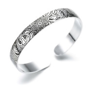 Bracciale Braccialetto Donna Uomo Unisex Idea Regalo Rigido Fantasia Maori Tatto