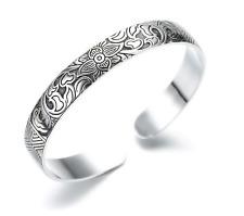 Bracciale Braccialetto Donna Uomo Unisex Idea Regalo Rigido Fantasia Maori Tatto