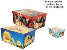 Bauletto Contenitore Salva Spazio Porta Biancheria Scatola 50x40x25cm moc