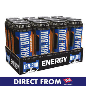 IRN-BRU Energy 12x500ml Cans - Direct from IRN-BRU