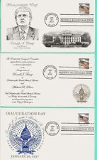 TRUMP-PENCE 2017 INAUGURATION COVER SET OF 3 W/FLAG STAMP, PANDA COLOR CACHET