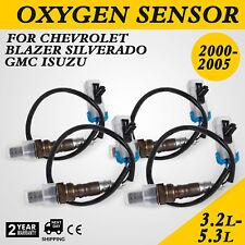 4pcs O2 Oxygen Sensors Chevrolet Up & Downstream Silverado 2000-05 S10