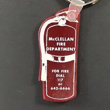McClellan Fire Department Souvenir Plastic Keychain Key Ring