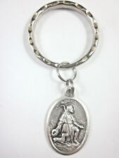 St Rocco ( Rock Roch ) Medal Key Ring Gift Box & Prayer Card
