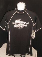 Nwt Vtg. Gecko Hawaii Black Top Stitched Poly.Spandex Compression Surf T Shirt L