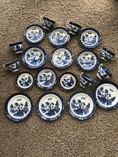 booths real old willow job lot cups,saucers & plates