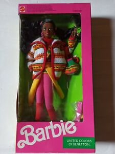 Barbie Vintage, United colors of Benetton, Christie, 1990, NRFB.