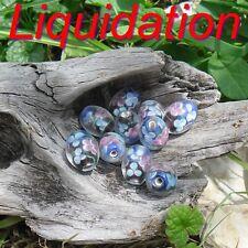 10 Perles de verre Lampwork Olive