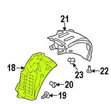 Land Range Rover 13 - 16 OEM Fender Liner Splash Guard LR033070 Front Right