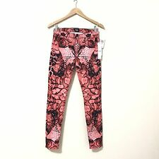 Hudson Jeans 27 Womens Snake Print Super Skinny New Midrise Nico Red Patterned