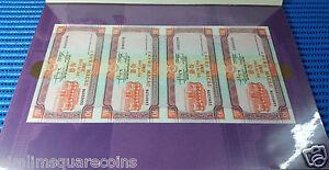 2 Set 4X Uncut Sheet Macau 10 Patacas Commemorative Note by Bank of China & BNU