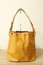 Authentic Louis Vuitton Yellow Epi Petit Noe Shoulder bag  #6766