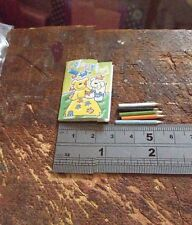 Colouring Book With Colouring Pencils 1:12th Scale Dolls House Miniature