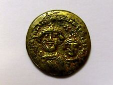 Roman Gold Coloured Solidus Contemporary Forgery Rare Byzantine Copy