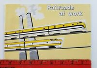 Vintage 1958 Railroads at Work 40 Page Information Booklet