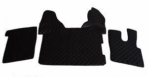 TRUCK Floor Mats RHD DAF 106 XF AUTOMAT BLACK Eco Leather