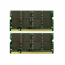 2GB (2x1GB) PC2700S DDR333 333Mhz DDR1 200pin So-Dimm Laptop Memory Low Density