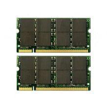 2GB (2x1GB) PC2700S DDR333 333Mhz DDR1 200pin So-Dimm Laptop Memory Low Density