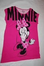 Womens Pajamas HOT PINK DISNEY MINNIE MOUSE NIGHTGOWN Sleep Shirt S/M 6-10