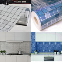 Mosaic Self Adhesive Wallpaper Kitchen Bathroom Wall Tile Stickers Vinyl Foil