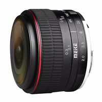 Meike 6.5mm F/2.0 Fisheye Lens Manual Focus Lens for Olypums Panasonic