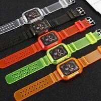 Silicone Apple Watch Band Sports Strap+Cover iWatch Series SE 6 5 4 3 2 1 40/44