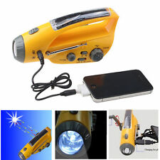 Emergency Solar Self Powered Dynamo Portable Crank AM/FM Weather Radio With LED