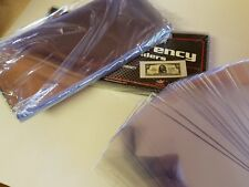 25 Bill Holders Regular Size (Small) BCW Deluxe Vinyl Semi-Rigid Currency Sleeve