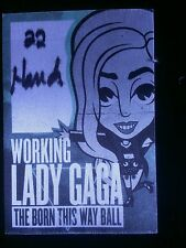 Lady GaGa Backstage Pass Green Working Chicago WHILE SUPPLIES LAST!