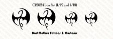 Iron Fist Chest Tattoo Waterslide Decal for 1/12 and 1/18 scale action figures