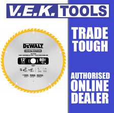 "DEWALT 12"" 305MM 60T TRADE TUNGSTEN CARBIDE TCT WOOD SLIDE OR DROP SAW BLADE"
