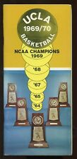 1969/1970 NCAA Basketball UCLA Yearbook / Media Guide EXMT
